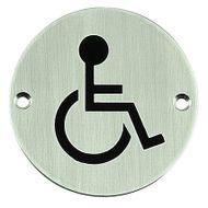 Označení tělesně postižení kulatý piktogram