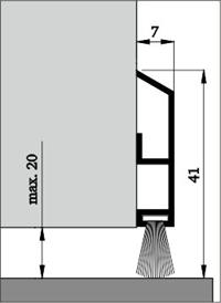 Těsnění dveří ADS-B s kartáčem
